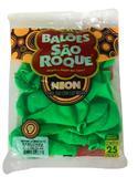 Balão São Roque Neon N9 C/25un Verde