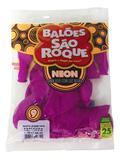 Balão São Roque Neon N9 C/25un Violeta