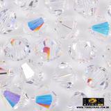 Balão Swarovski / Preciosa - 4mm - Cristal Ab Irisado - 20 Unid - Tok bijouxs
