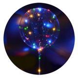 Balão Transparente com Led colorido -  com Suporte Vareta - Hutz