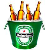 Balde De Cerveja Heineken 7,5l - Versare anos dourados