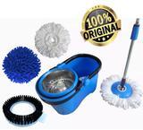 Balde Esfregão 1.60m 3 Refis Perfect Mop Limpeza Centrifuga Prático