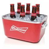 Balde Para Cerveja Oficial Budweiser Retangular Global - 5l