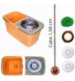 Balde Spin Mop C/ Inox Cabo 1,58 C/4 Refis E Divisor - Mop limp