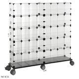 Baleiro de Vidro Modulado - 0,80 x 1,10 x 0,20 - Balcãonet