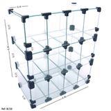 Baleiro Expositor Modulado em Vidro - 0,40 x 0,45 x 0,20 - Balcãonet