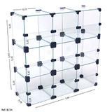 Baleiro Expositor Modulado em Vidro - 0,60 x 0,60x0,20 - Balcãonet
