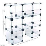 Baleiro Expositor Modulado em Vidro - 0,60 x0,60 x 0,20 - Balcãonet