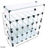 Baleiro Expositor Modulado em Vidro - 0,60x 0,60 x 0,20 - Balcãonet