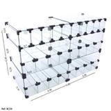Baleiro Expositor Modulado em Vidro - 0,80 x 0,50 x 0,30 - Balcãonet