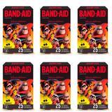 Band Aid Os Incríveis Curativo Infantil C/25 (Kit C/06)