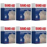 Band Aid Transparente Curativo C/40 (Kit C/06)
