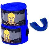 Bandagem elástica troia 4mts + p.bucal - kit azul - Troia sport