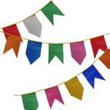 Bandeirinhas de Plástico Festa Junina 10 metros - Festabox