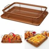 Bandeja Cesta para Fritadeira Forno Assar Fritar Batata Frita Empanado (34961) - Copper crispy