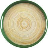 Bandeja Fibra de Bambu com Alça 38cm Anji Verde