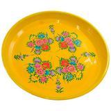 Bandeja Floral Yellow - 33cm x 33cm x 3cm - Trevisan Concept
