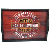 Bandeja Home Bar Modelo HD Vermelha (G) - Decore fácil