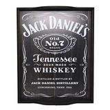 Bandeja Home Bar Modelo Whiskey Preta JD - (G) - Decore fácil
