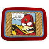 Bandeja Simpsons Heroes Original 34cm x 48cm x 2cm Vermelha - Trevisan Concept