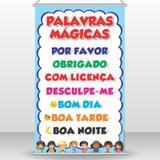 Banner Didático Palavras Mágicas - Arte de colar