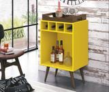Bar Adega Edn Pub Com Bandeja Amarelo - Móveis edn