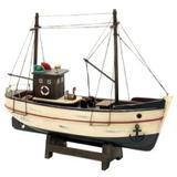 Barco pesqueiro de madeira decorativo - Btc decor