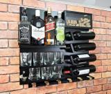 Barzinho Adega Para Sala Aparador De Parede Vinhos Bebidas Madeira MDF 66x64cm Preto - Soul fins