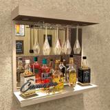 Barzinho De Parede Porta Taças E Iluminação - Bar06 - Camarim móveis