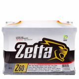 Bateria Zetta 60Ah  Z60D  Fabricação Moura - Positivo Direito
