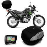 Bau 45 Litros Fume Bauleto Moto + Gps Tracker 4.3 - Multilaser