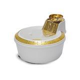 Bebedouro Para Cães e Gatos Petlon Premium Branco/Dourado