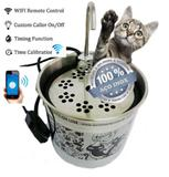 Bebedouro para gatos inox 1500 ml com wifi e filtro de agua - Gato online
