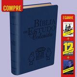 Bíblia de Estudo Colorida NVI Azul + 3 DVDS - Bv books