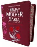 Bíblia de Estudo da  Mulher Sábia c/ Harpa Avidada e Corinhos - Bordô - Editora cpp