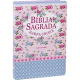 Bíblia Sagrada com Harpa Cristã - Letra Grande - Florida Azul - Editora sbb