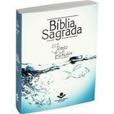 Bíblia Sagrada Fonte de Bençãos - Água Brochura - Sociedade bíblica do brasil