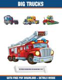 Big Trucks Coloring Book for Children Aged 4 to 8 (Big Trucks) - West suffolk cbt service ltd