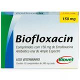 Biofloxacin Antibiótico P/ Cães E Gatos 150mg 10 Compromidos - Biovet
