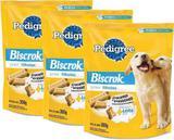 Biscoito para cachorros filhotes Biscrok Junior Pedigree Caixa Com 3 Pacotes De 300g