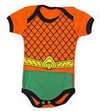 Body bebê Aquaman infantil Fantasia Heroi - Heróis