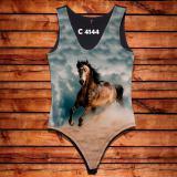 Body Feminina Cavalo Malhado Veloz Cavalgada C4144 - Oba country
