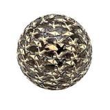 Bola de resina preta com desenho bege de peixe e passaro- 12 - Btc decor