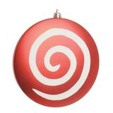 Bola formato pirulito vermelha com branco 15cm: 1318041 JG C/2 UND - Cromus