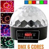Bola Maluca DMX Globo de Luz Led 6 Cores Efeitos Holográficos Painel Digital - Xlight