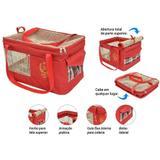 Bolsa Aerial Pet De Transporte De Avião Companhia Gol - Vermelha - São pet