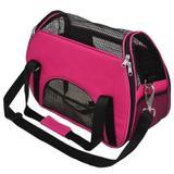 Bolsa de transporte para cães e gato atenas n2 são pet 48*25*36 rosa