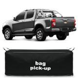 Bolsa Para Caçamba Pick-Up S10 2012 a 2019 216 Litros Tamanho P Nylon Preto - Top gear