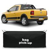 Bolsa Para Caçamba Pick-Up Saveiro Cross 2011 a 2018 Preta 216 Litros Capacidade 30Kg - Top gear