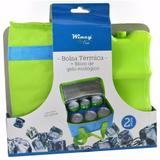 Bolsa termica colors 5l + bloco de gelo ecologica para 6 latas 23x15x12,5cm - Wincy